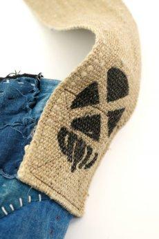 画像6: 【MITSUGU SASAKI】BORO古布 刺し子ショルダーバッグ(藍染と麻) (6)