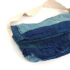 画像2: 【MITSUGU SASAKI】BORO藍染古布 小さめショルダーバッグ(日本の藍とフレンチインクブルー) (2)
