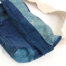 画像3: 【MITSUGU SASAKI】BORO藍染古布 小さめショルダーバッグ(日本の藍とフレンチインクブルー) (3)