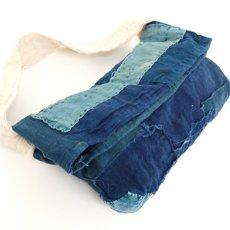 画像11: 【MITSUGU SASAKI】BORO藍染古布 小さめショルダーバッグ(日本の藍とフレンチインクブルー) (11)