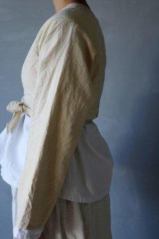 画像5: 【ササキチホ】アンティークリネン 短上衣(生成り) (5)