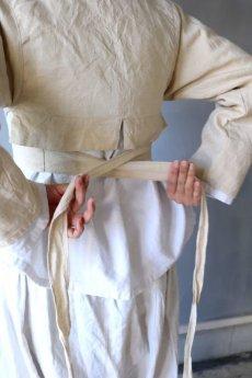 画像11: 【ササキチホ】アンティークリネン 短上衣(生成り) (11)