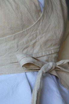 画像8: 【ササキチホ】アンティークリネン 短上衣(生成り) (8)