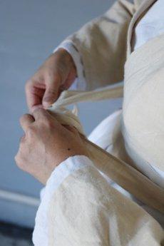 画像12: 【ササキチホ】アンティークリネン 短上衣(生成り) (12)