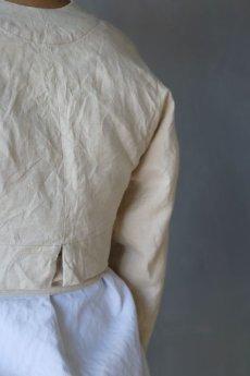 画像7: 【ササキチホ】アンティークリネン 短上衣(生成り) (7)