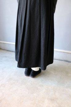 画像8: 【ササキチホ】アンティークリネン×染め モンゴリアンノースリーブワンピース(黒色) (8)