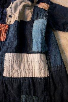 画像11: 【MITSUGU SASAKI】藍染古布 刺し子リペアのリバーシブル野良着 (11)