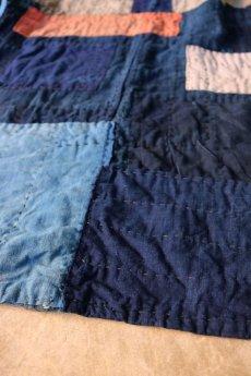 画像12: 【MITSUGU SASAKI】藍染古布 刺し子リペアのリバーシブル野良着 (12)
