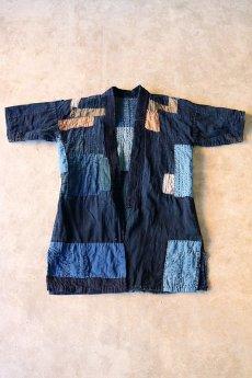 画像3: 【MITSUGU SASAKI】藍染古布 刺し子リペアのリバーシブル野良着 (3)