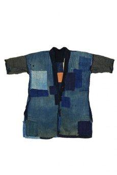 画像2: 【MITSUGU SASAKI】藍染古布 刺し子リペアのリバーシブル野良着 (2)