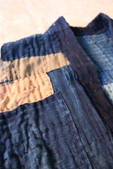 画像6: 【MITSUGU SASAKI】藍染古布 刺し子リペアのリバーシブル野良着 (6)