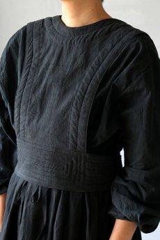 画像4: 【ササキチホ】アンティークリネン×染め 胴衣(黒) (4)