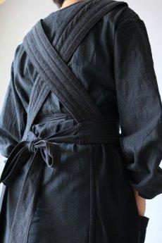 画像9: 【ササキチホ】アンティークリネン×染め 胴衣(黒) (9)