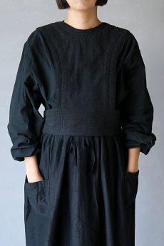 画像2: 【ササキチホ】アンティークリネン×染め 胴衣(黒) (2)
