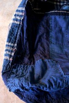 画像15: 【MITSUGU SASAKI】BORO古布 パッチワーク米袋の大きめリバーシブルショルダーバッグ (15)