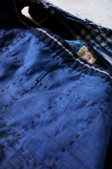 画像12: 【MITSUGU SASAKI】BORO古布 パッチワーク米袋の大きめリバーシブルショルダーバッグ (12)