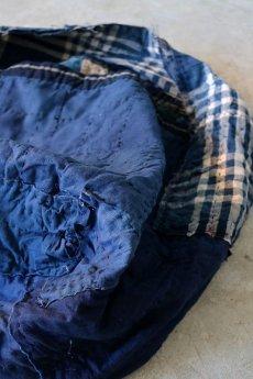 画像11: 【MITSUGU SASAKI】BORO古布 パッチワーク米袋の大きめリバーシブルショルダーバッグ (11)