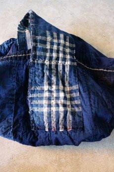 画像13: 【MITSUGU SASAKI】BORO古布 パッチワーク米袋の大きめリバーシブルショルダーバッグ (13)