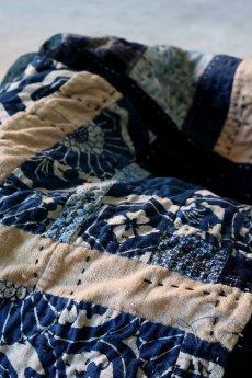 画像5: 【MITSUGU SASAKI】BORO古布 パッチワーク米袋の大きめリバーシブルショルダーバッグ (5)