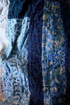 画像3: 【MITSUGU SASAKI】BORO古布 パッチワーク米袋の大きめリバーシブルショルダーバッグ (3)
