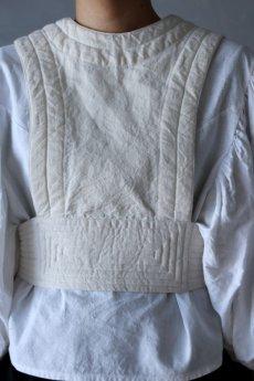 画像4: 【ササキチホ】アンティークリネン×染め 胴衣(白) (4)