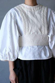 画像3: 【ササキチホ】アンティークリネン×染め 胴衣(白) (3)