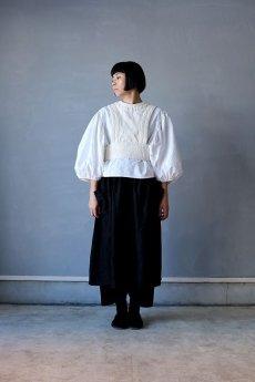 画像2: 【ササキチホ】アンティークリネン×染め 胴衣(白) (2)