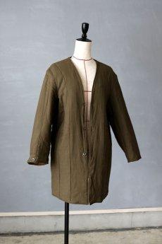 画像2: 【チェコ】1970年代 ミリタリー リバーシブルキルティングコート(サイズ1) (2)