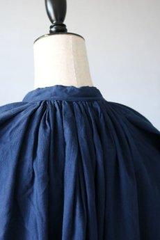 画像8: 【フランス】20世紀中期の教会用ロングスモックドレス(後染め/紺色) (8)