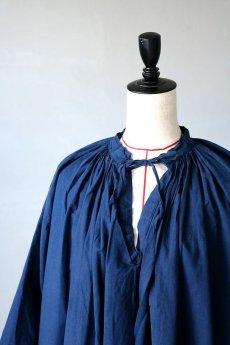 画像3: 【フランス】20世紀中期の教会用ロングスモックドレス(後染め/紺色) (3)