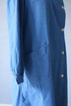 画像10: 【フランス】1950年代頃のブルーコットン メディカルワークドレス (10)