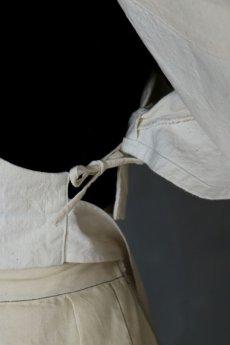 画像12: 【ササキチホ】アンティークリネン  短上衣(白) (12)