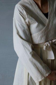 画像3: 【ササキチホ】アンティークリネン  短上衣(白) (3)