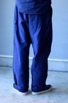 画像12: 【MITSUGU SASAKI】ビンテージ×リメイク ブルーモールスキン ワイドワークパンツ(フレンチインクブルー) (12)