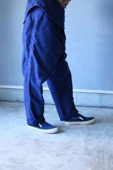 画像13: 【MITSUGU SASAKI】ビンテージ×リメイク ブルーモールスキン ワイドワークパンツ(フレンチインクブルー) (13)