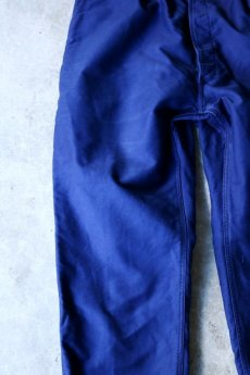 画像3: 【MITSUGU SASAKI】ビンテージ×リメイク ブルーモールスキン ワイドワークパンツ(フレンチインクブルー) (3)