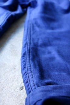 画像4: 【MITSUGU SASAKI】ビンテージ×リメイク ブルーモールスキン ワイドワークパンツ(フレンチインクブルー) (4)