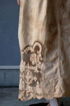 画像11: 【ササキチホ】アンティークレースリネン 巻きスカート(手染め) (11)