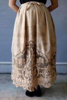 画像5: 【ササキチホ】アンティークレースリネン 巻きスカート(手染め) (5)