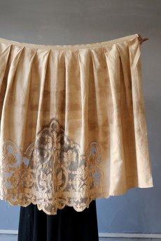 画像15: 【ササキチホ】アンティークレースリネン 巻きスカート(手染め) (15)