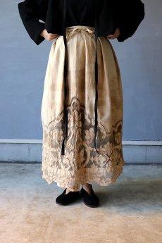 画像2: 【ササキチホ】アンティークレースリネン 巻きスカート(手染め) (2)