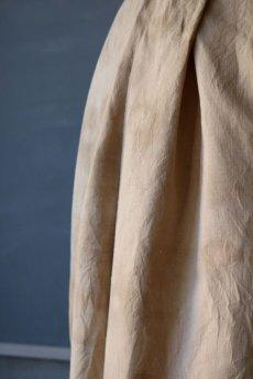 画像14: 【ササキチホ】アンティークレースリネン 巻きスカート(手染め) (14)