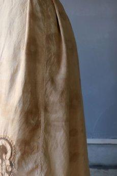 画像12: 【ササキチホ】アンティークレースリネン 巻きスカート(手染め) (12)