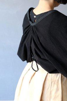 画像12: 【ササキチホ】古布 巻上衣 後染黒 (12)