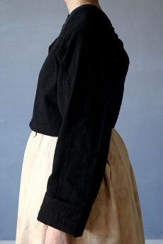 画像6: 【ササキチホ】古布 巻上衣 後染黒 (6)