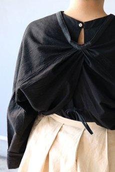 画像13: 【ササキチホ】古布 巻上衣 後染黒 (13)