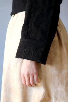 画像8: 【ササキチホ】古布 巻上衣 後染黒 (8)