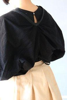 画像11: 【ササキチホ】古布 巻上衣 後染黒 (11)