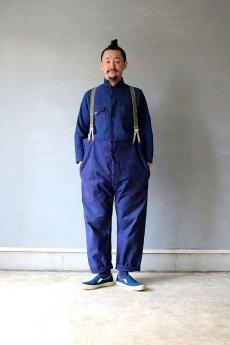 画像7: 【MITSUGU SASAKI】ビンテージリメイク フィッシャーマンオーバーオール(フレンチワーク) (7)