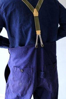 画像11: 【MITSUGU SASAKI】ビンテージリメイク フィッシャーマンオーバーオール(フレンチワーク) (11)